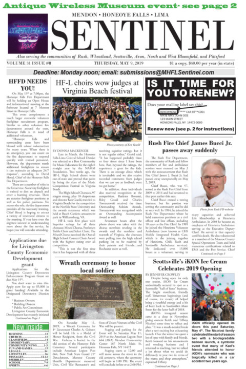 May 9, 2019 Issue of <em>The Sentinel</em>