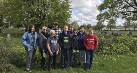 Wheatland Boy Scouts spruce up cemetery