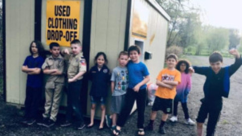 Cub Scouts finish service project in Scottsville