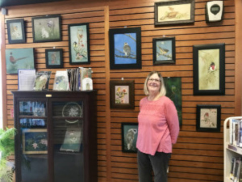 Barbara Fragale Displays Decorative Paintings at Mendon Public Library