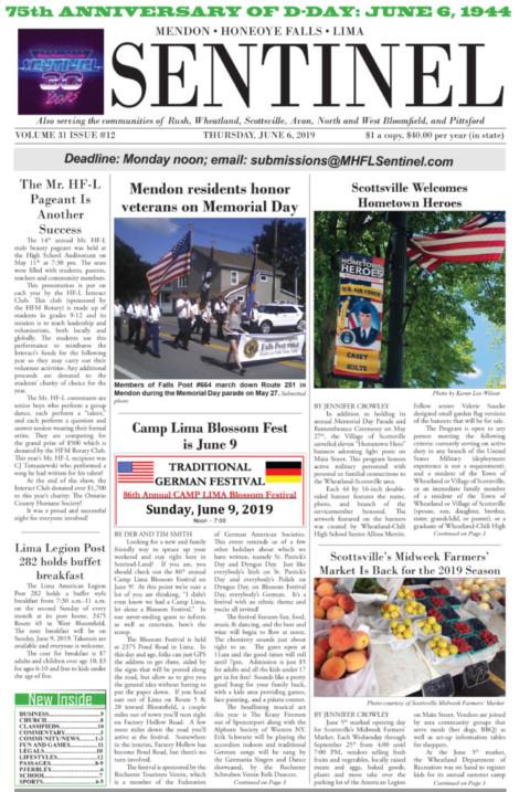 June 6, 2019 Issue of <em>The Sentinel</em>