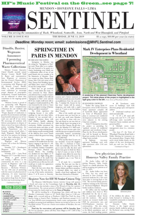 June 13, 2019 Issue of <em>The Sentinel</em>