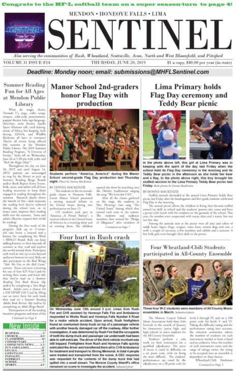 June 20, 2019 Issue of <em>The Sentinel</em>