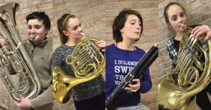 Four Wheatland-Chili Students participated in All-County Ensemble