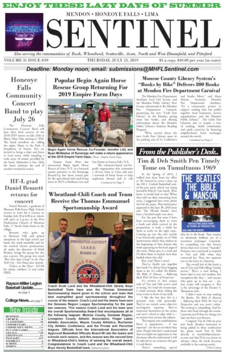 July 25, 2019 Issue of <em>The Sentinel</em>