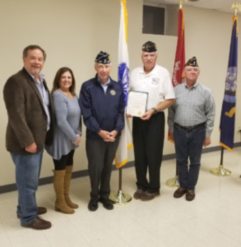 Falls Post #664 receives  100th year proclamation