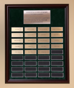 HF/M Historical Society dedicates plaque