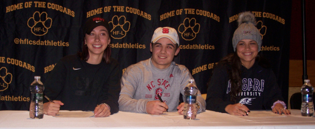 Three HF-L student athletes sign letters of intent
