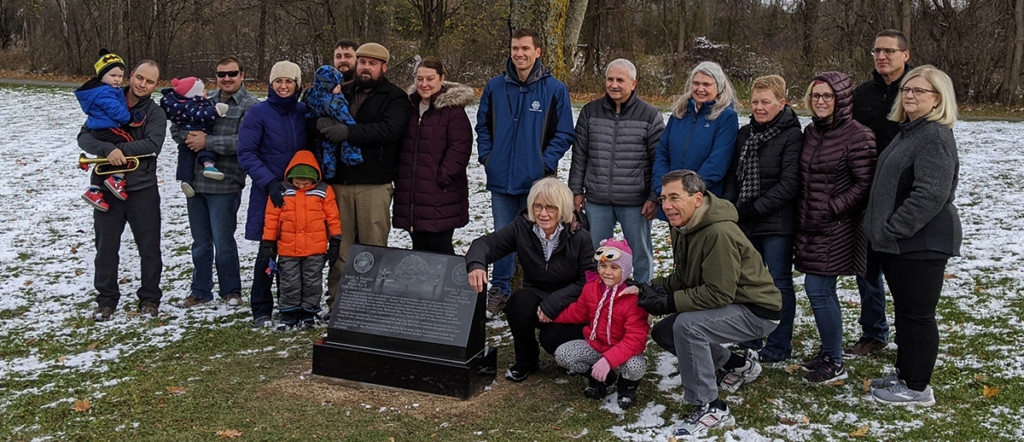 Memorial stone dedicated to Ron and Rod Parmelee