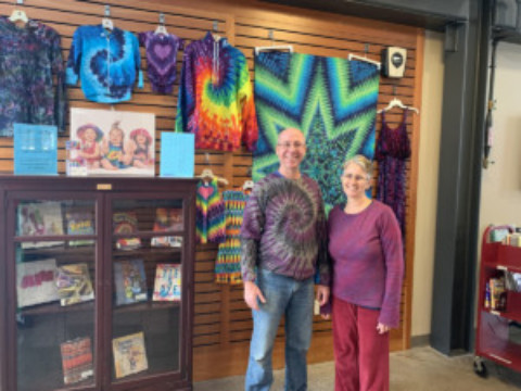 E-Art Tie Dye on Display at Mendon Public Library