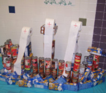 Manor School's Can-gineering event collects over 2,000 cans of food