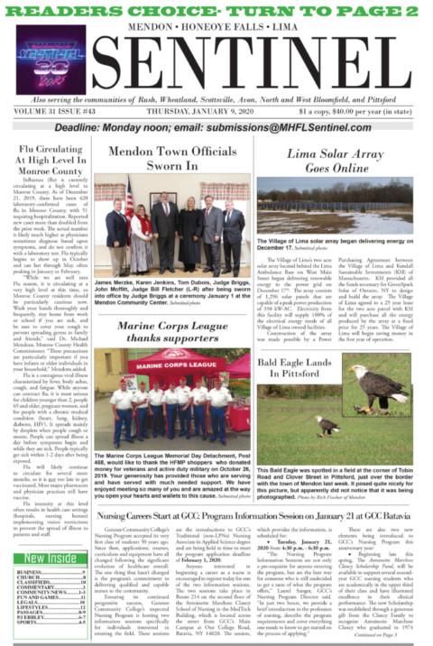 January 9, 2020 Issue of <em>The Sentinel</em>