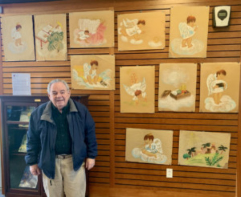 "Hank Besanceney Displays 60-year-old ""Littlest Angel"" Artwork at MPL"