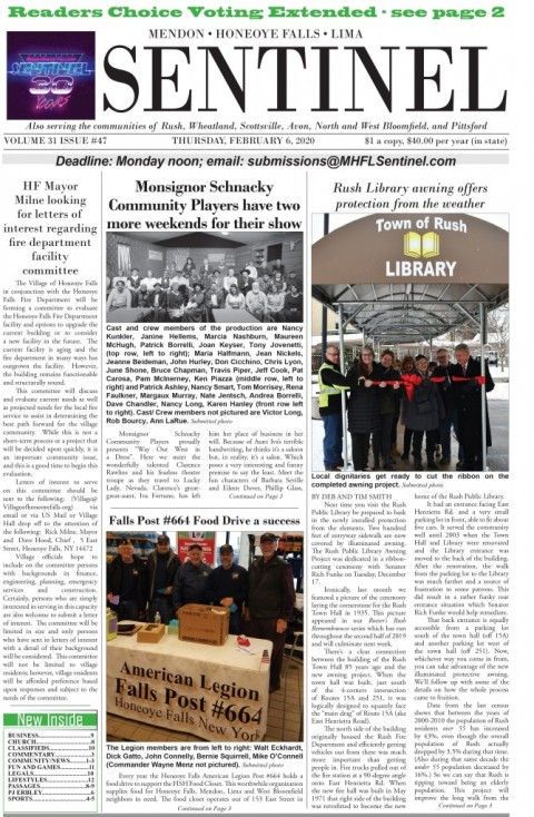 February 6, 2020 Issue of <em>The Sentinel</em>