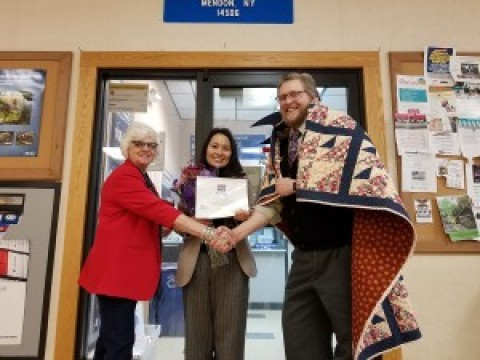 Adam Pierce honored by Quilts of Valor Foundation