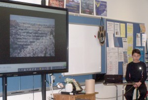 HF-L Middle School students show off knowledge of history during Expo
