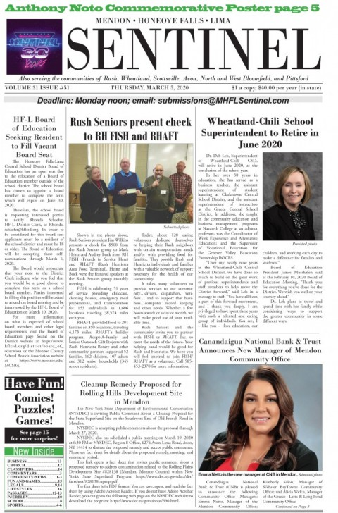 March 5, 2020 Issue of <em>The Sentinel</em>