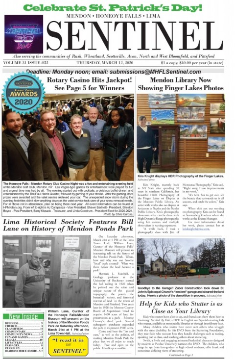 March 12, 2020 Issue of <em>The Sentinel</em>
