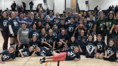 Manor students hold basketball game for St. Baldrick's