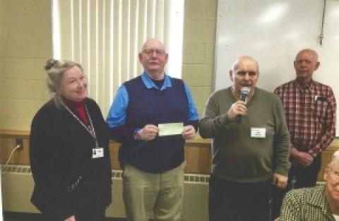 Rush Seniors present check to RH FISH and RHAFT