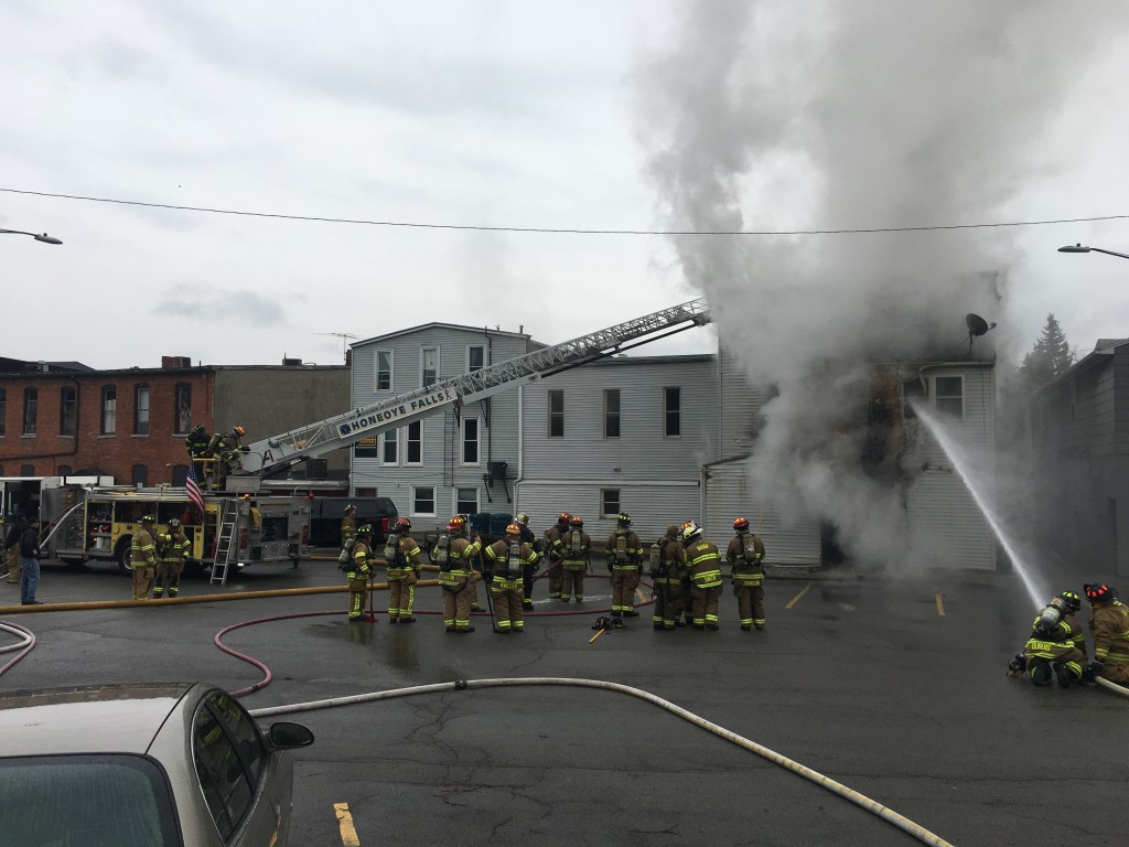BREAKING NEWS: Flames Shoot Out of Building in Honeoye Falls