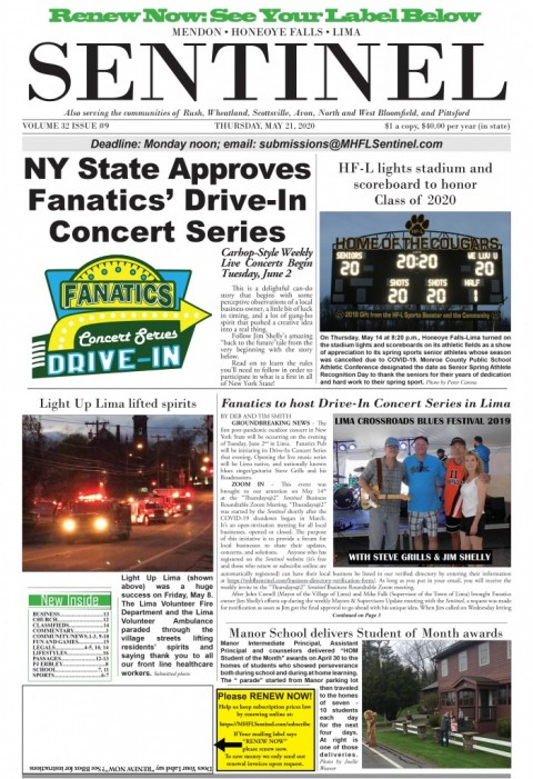 May 21, 2020 Issue of <em>The Sentinel</em>