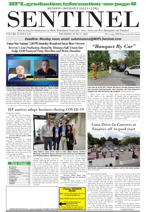June 11, 2020 Issue of <em>The Sentinel</em>