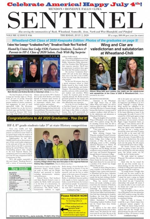 July 2, 2020 Issue of <em>The Sentinel</em>