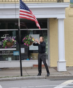 Taps ring out in Mendon on quiet Memorial Day