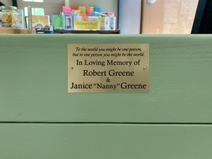 Mendon Public Library Dedicates Children's Area Bench and Computer Tables in Recognition of  Beloved Patrons