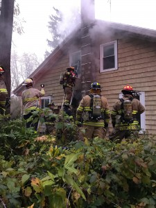 HFFD and Lima Fire Department respond to chimney fire