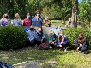 HF-L's Interact Club coordinated park cleanup