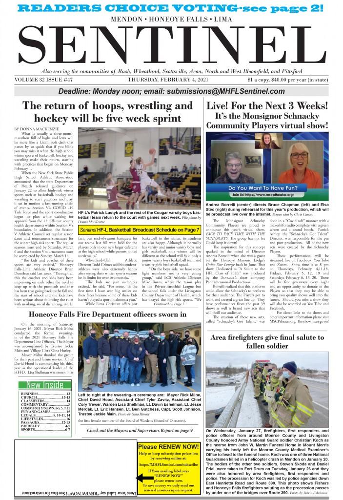 February 4, 2021 Issue of <em>The Sentinel</em>
