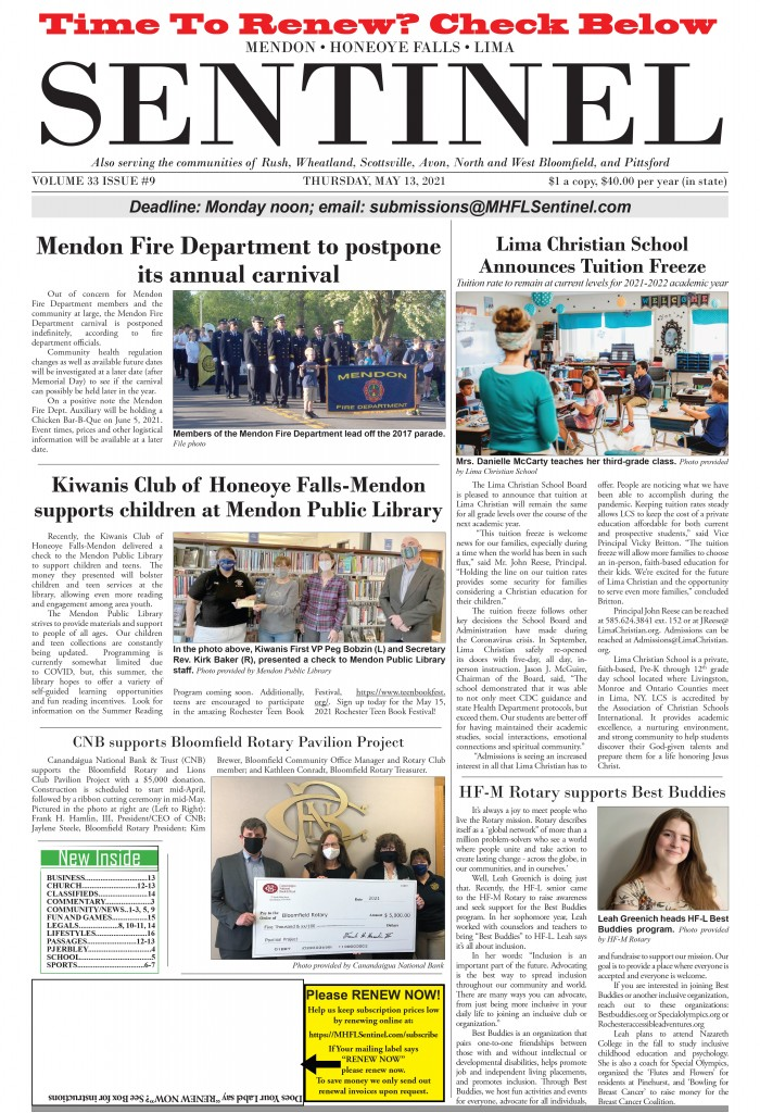 2021.05.13 Sentinel page one