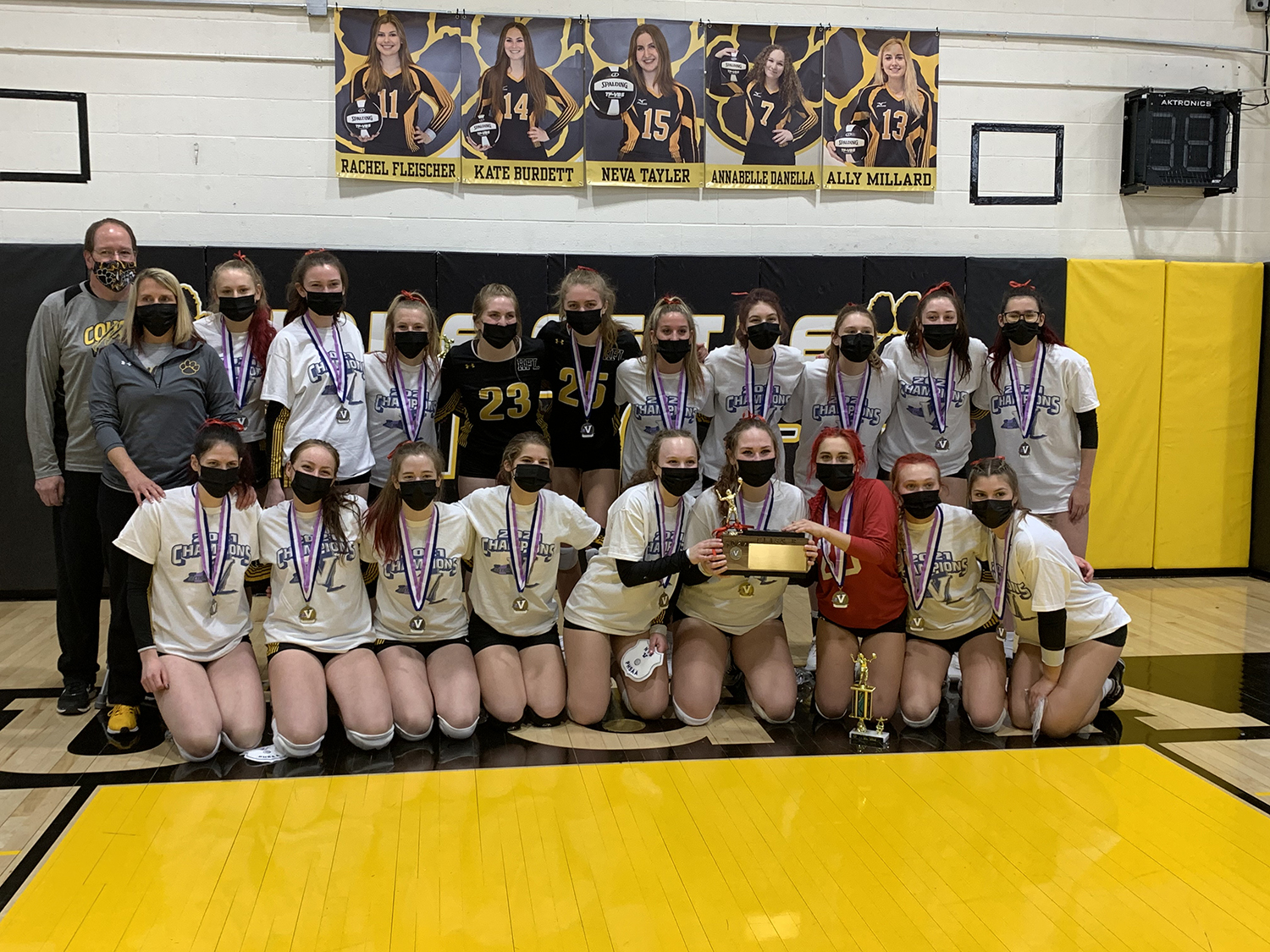 HFL Volleyball team with trophy