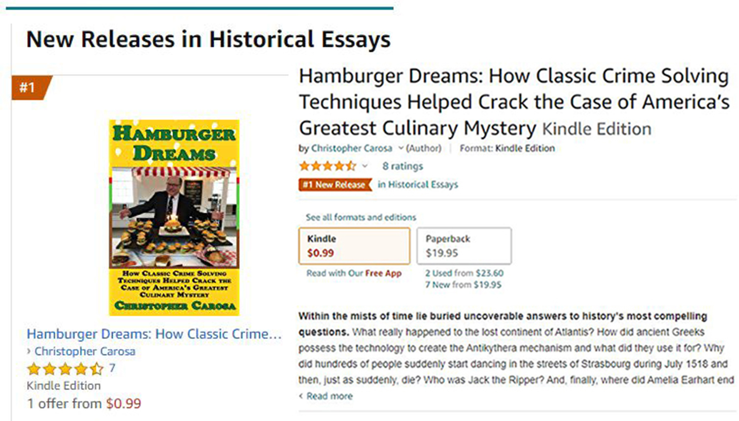 Local book 2021.05.30 Amazon #1 New Releases-Historical Essays