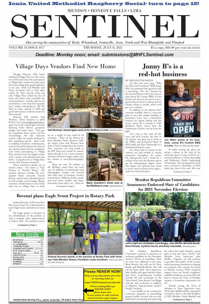 July 8, 2021 Issue of <em>The Sentinel</em>