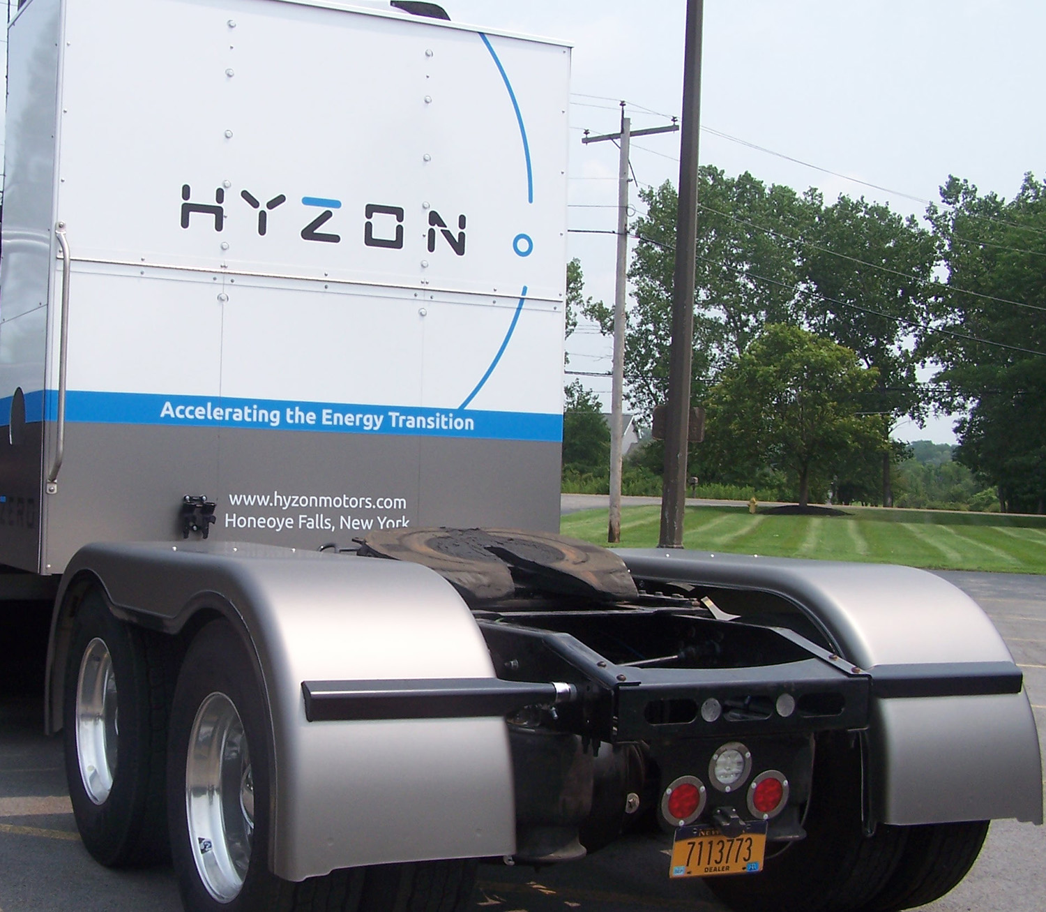 Back of Hyzon truck