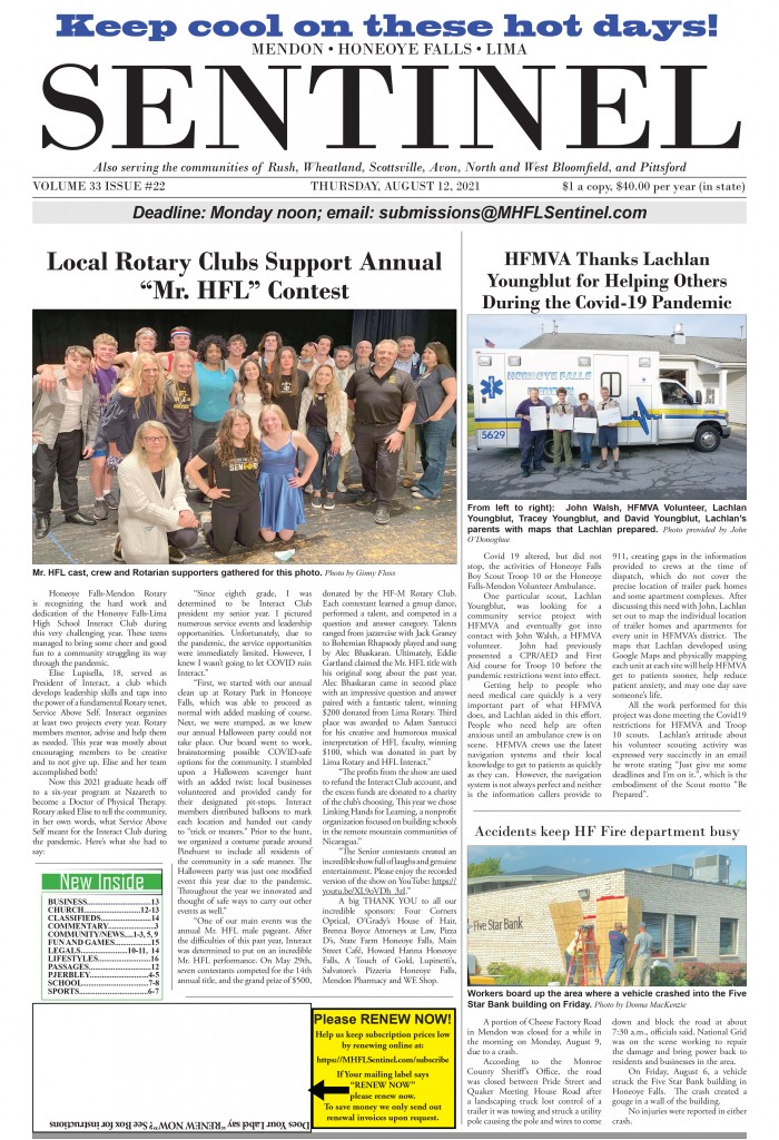 August 12, 2021 Issue of <em>The Sentinel</em>