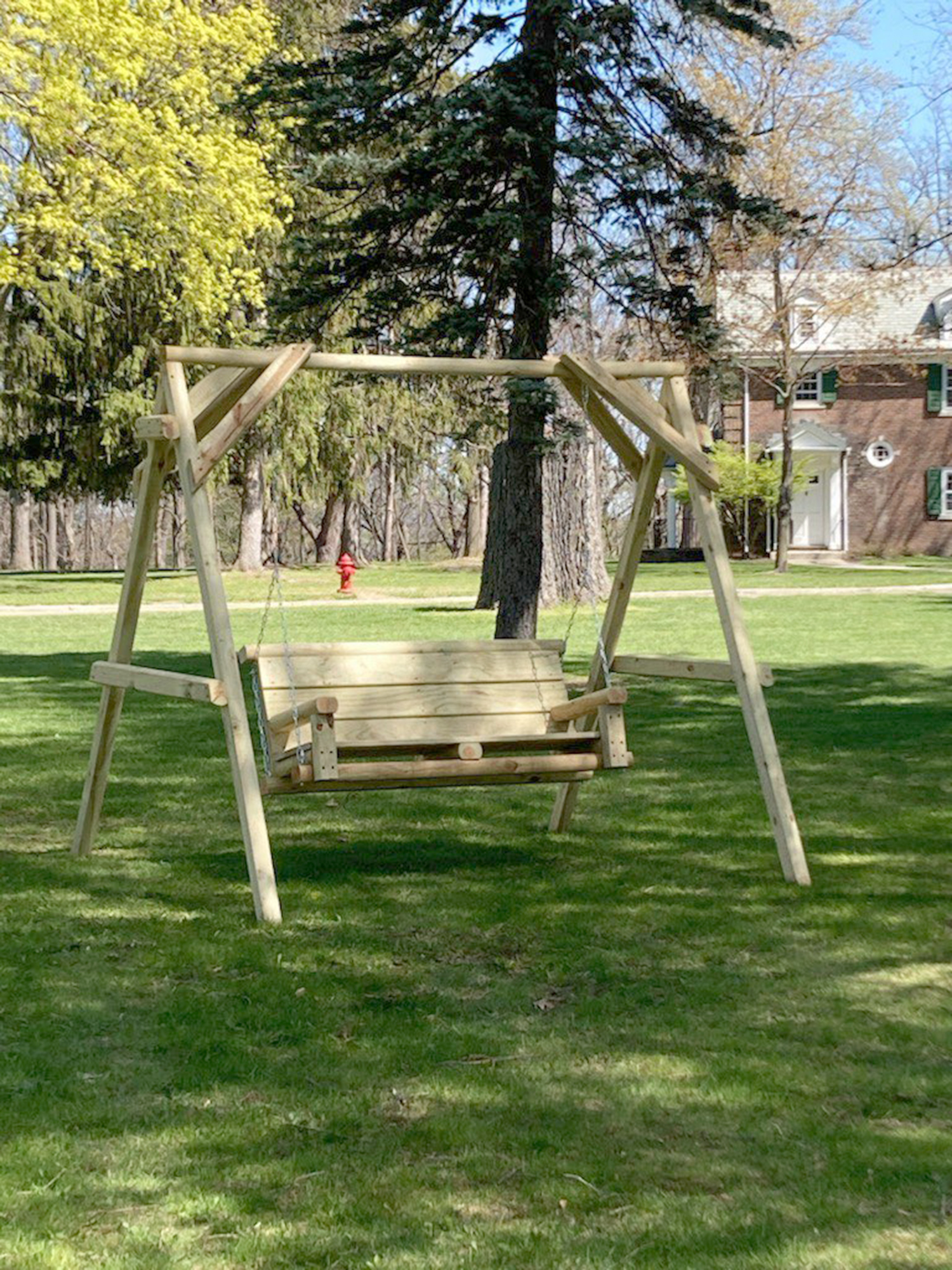 Livingston County Donates Chair Swings to Autism Trail