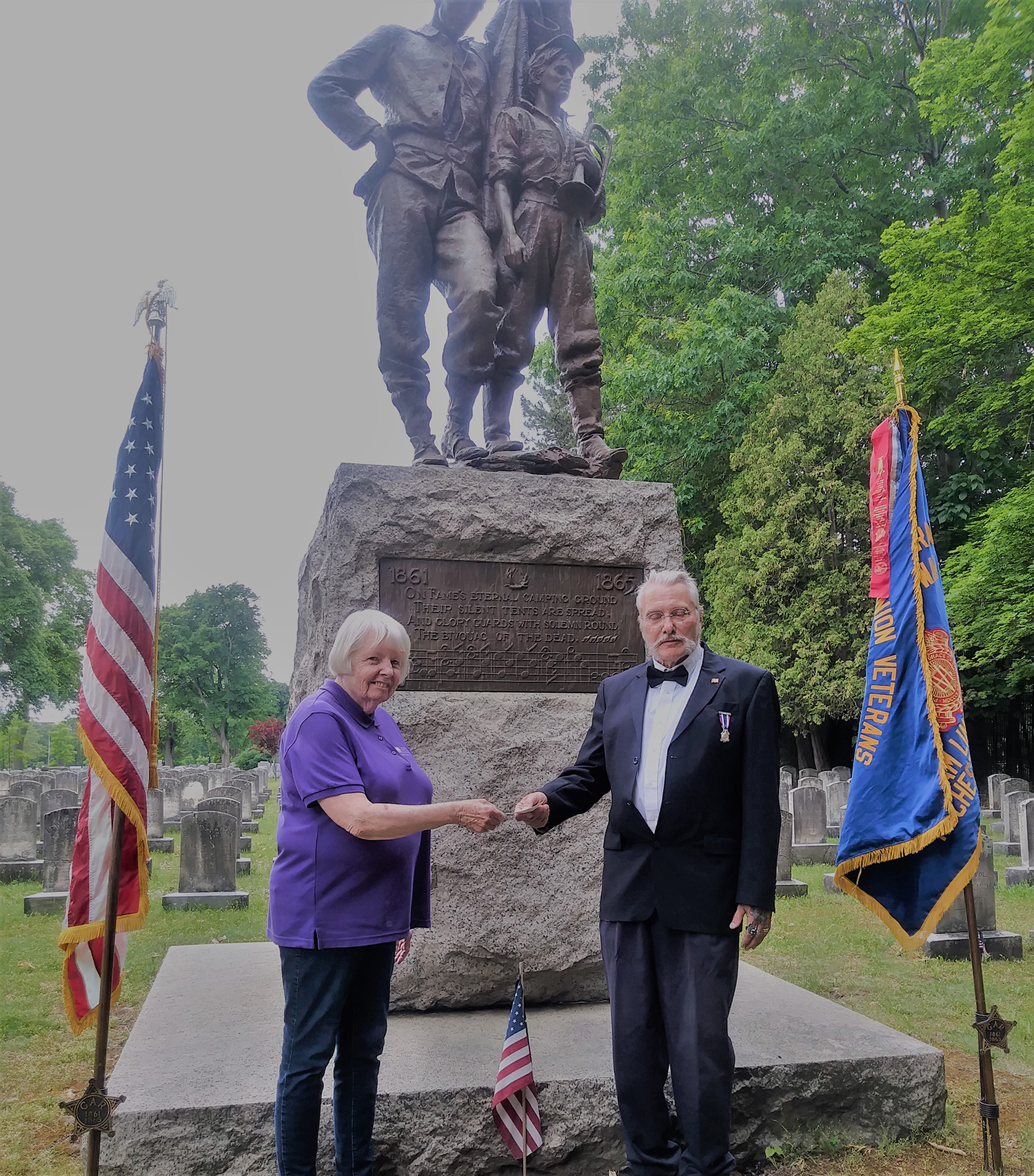 Sons Of Union Veterans Of Civil War Raise Funds For Monument Restoration Project