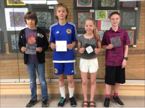 HF-L Students donate Art Work to Support the RoCo!