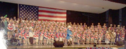 Manor second-graders put on patriotic show
