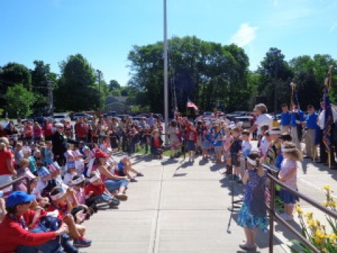 Scouts Lead Lima School Flag Day Ceremony