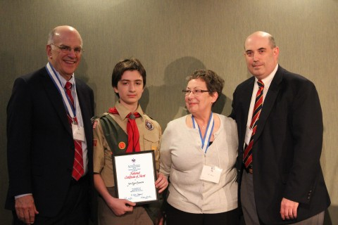 Troop 105 Boy Scout Receives National Lifesaving Award