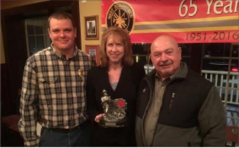 Terri Wallace earns West Bloomfield Volunteer Firefighter of Year Award